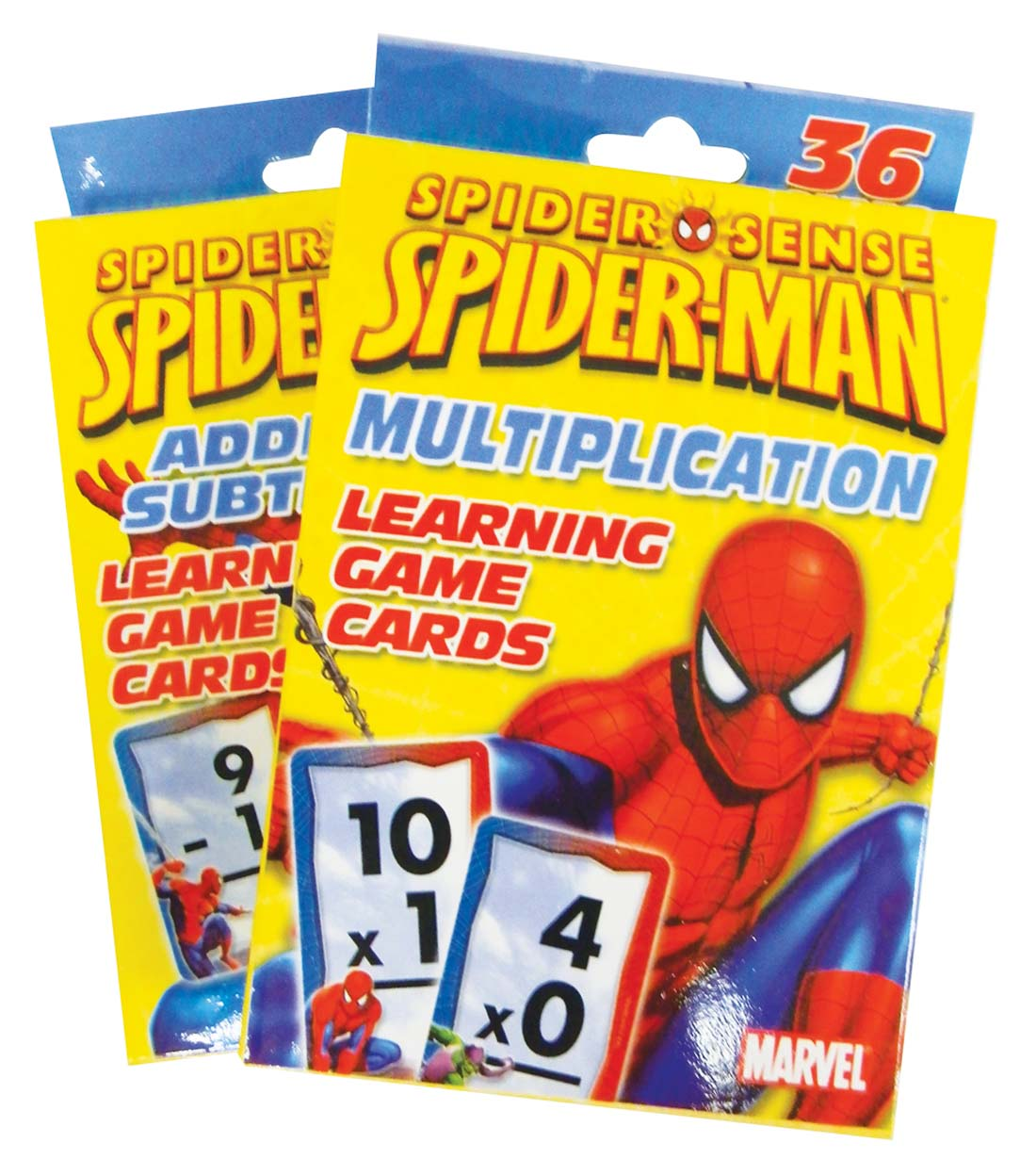 View SPIDERMAN FLASHCARDS 36 CT ADDITION & SUBTRACTION