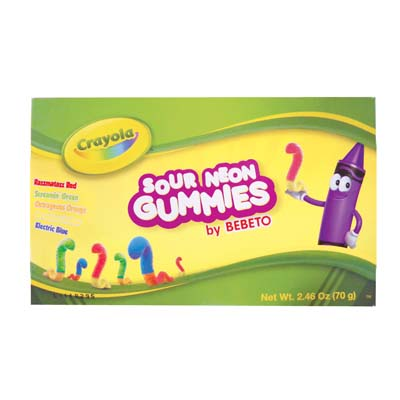 View CRAYOLA SOUR GUMMIES 2.46 OZ IN DISPLAY
