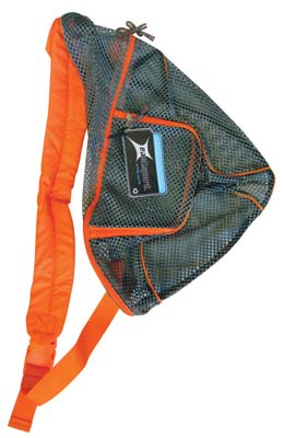 View EASTPORT MESH BACKPACK 18 INCHES WITH ADJUSTABLE STRAP ASSORTED BLACK & GREY/ORANGE PREPRICED $9.00