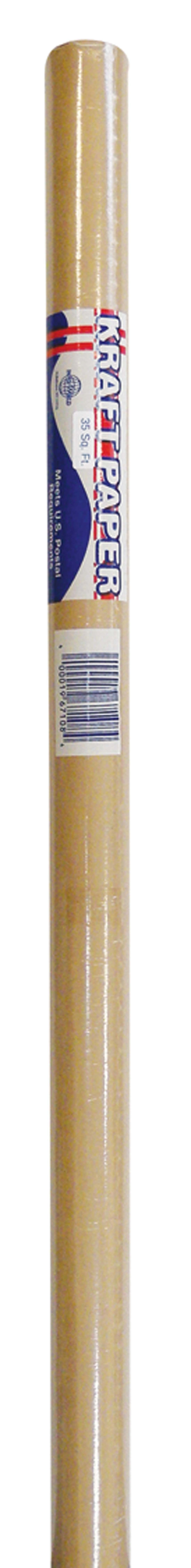 View BROWN KRAFT PAPER ROLL 35 SQUARE FEET (MADE IN USA)