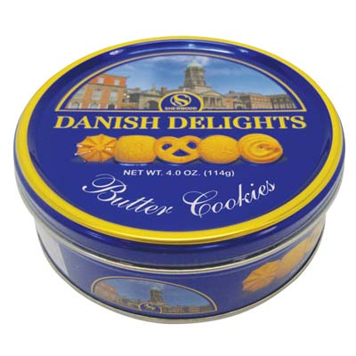 View DANISH DELIGHTS BUTTER COOKIES 4 OUNCE EXP 07/10/2017
