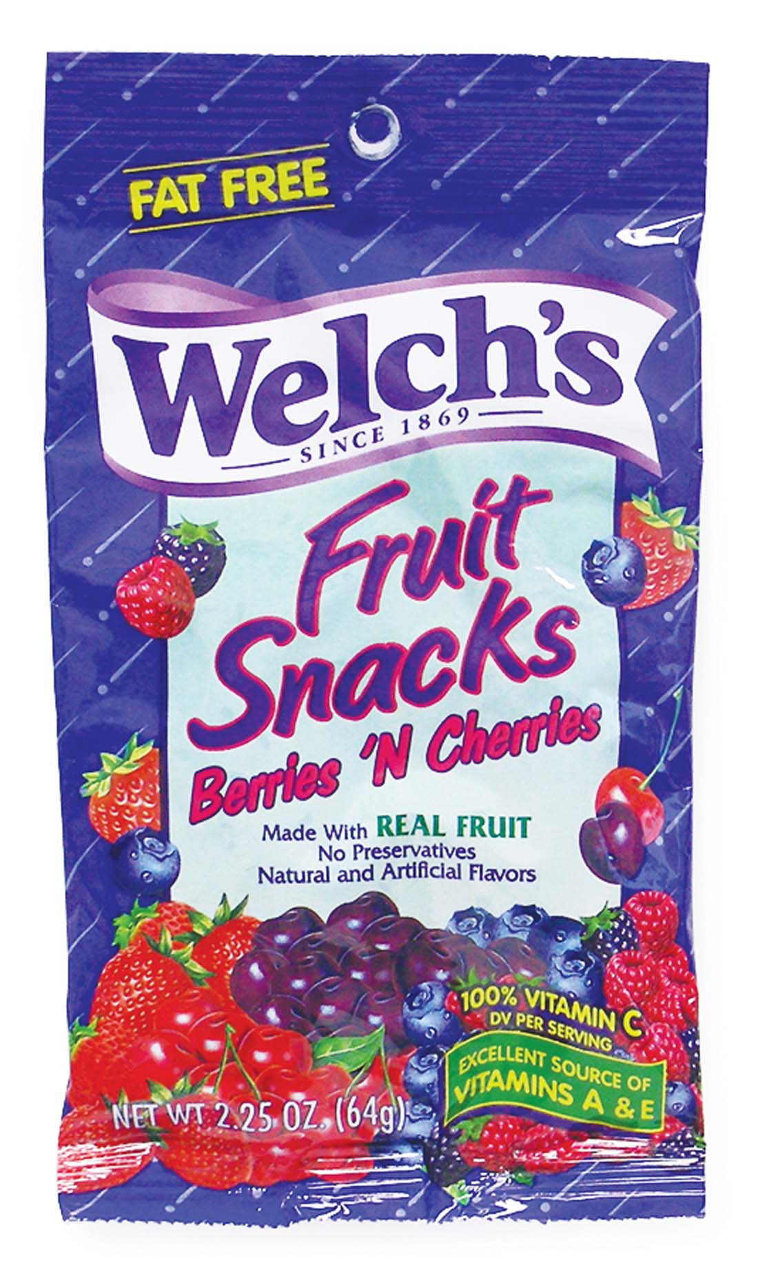 View WELCH'S FRUIT SNACKS 2.25 OZ BERRIES 'N CHERRIES (MADE IN USA)