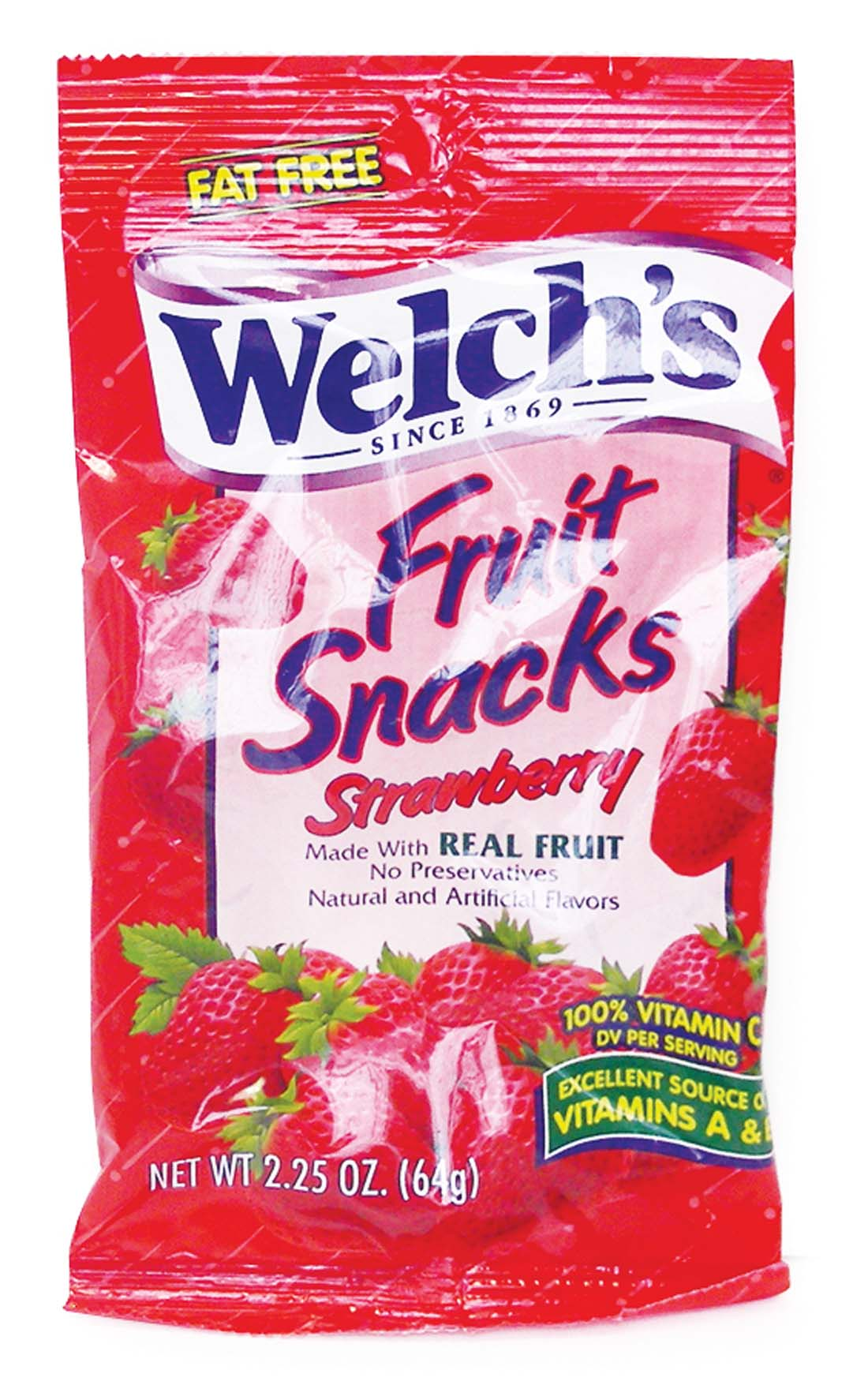 View WELCH'S FRUIT SNACKS 2.25 OZ STRAWBERRY (MADE IN USA)