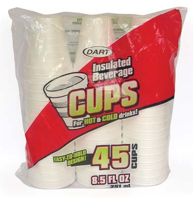 View DART INSULATED FOAM CUPS 45 CT 8.5 OZ