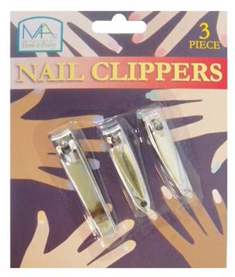 View NAIL CLIPPER SET 3 PIECE ASSORTED SIZES