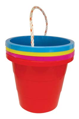 View BUCKET 1.5 GALLON WITH ROPE ASSORTED COLORS