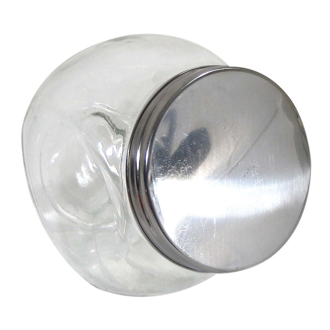 View GLASS JAR 22 OZ WITH METAL LID