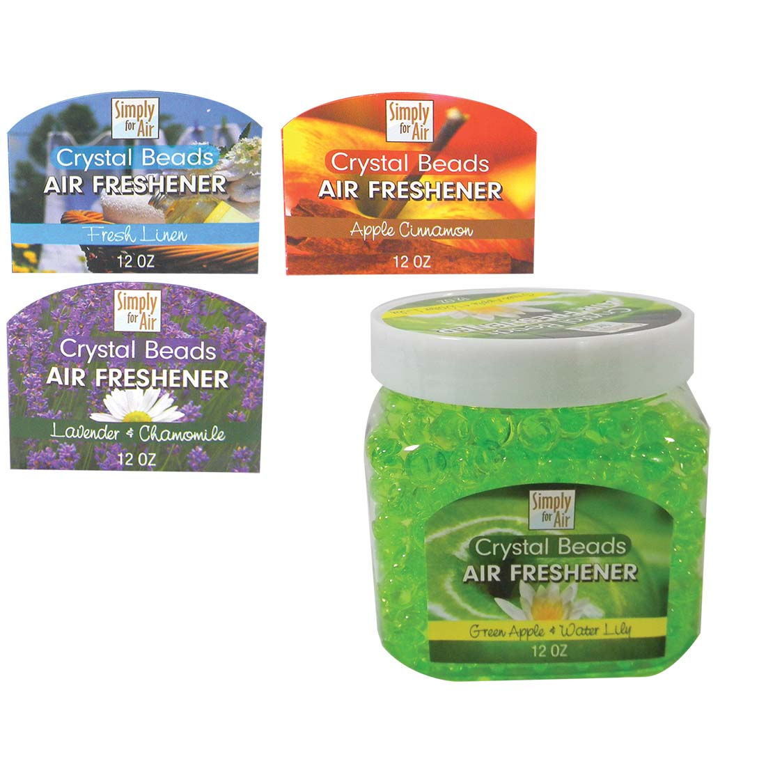 View CRYSTAL BEAD AIR FRESHENER 12 OZ JAR