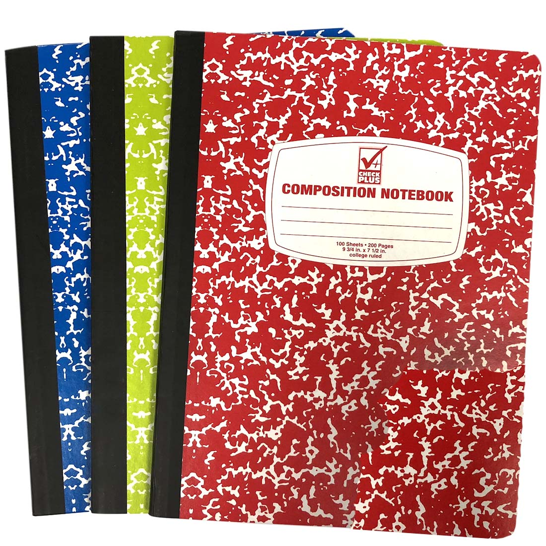 View COMPOSITION NOTEBOOK 100 SHEET 9.75 X 7.5 INCH COLLEGE RULE ASSORTED COLORS