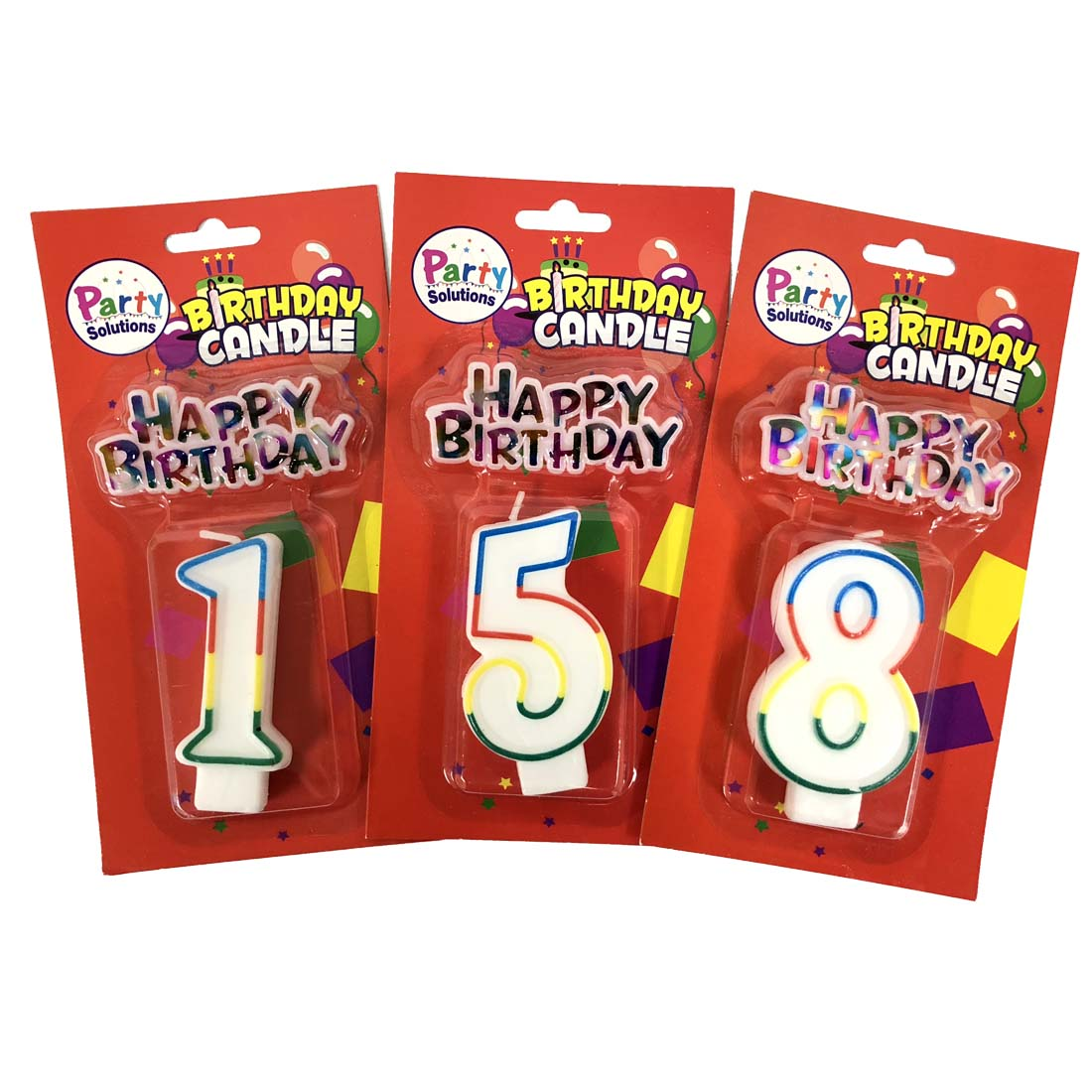 View NUMBER BIRTHDAY CANDLES 3 INCH WITH CAKE DECORATION NUMBERS 0-9