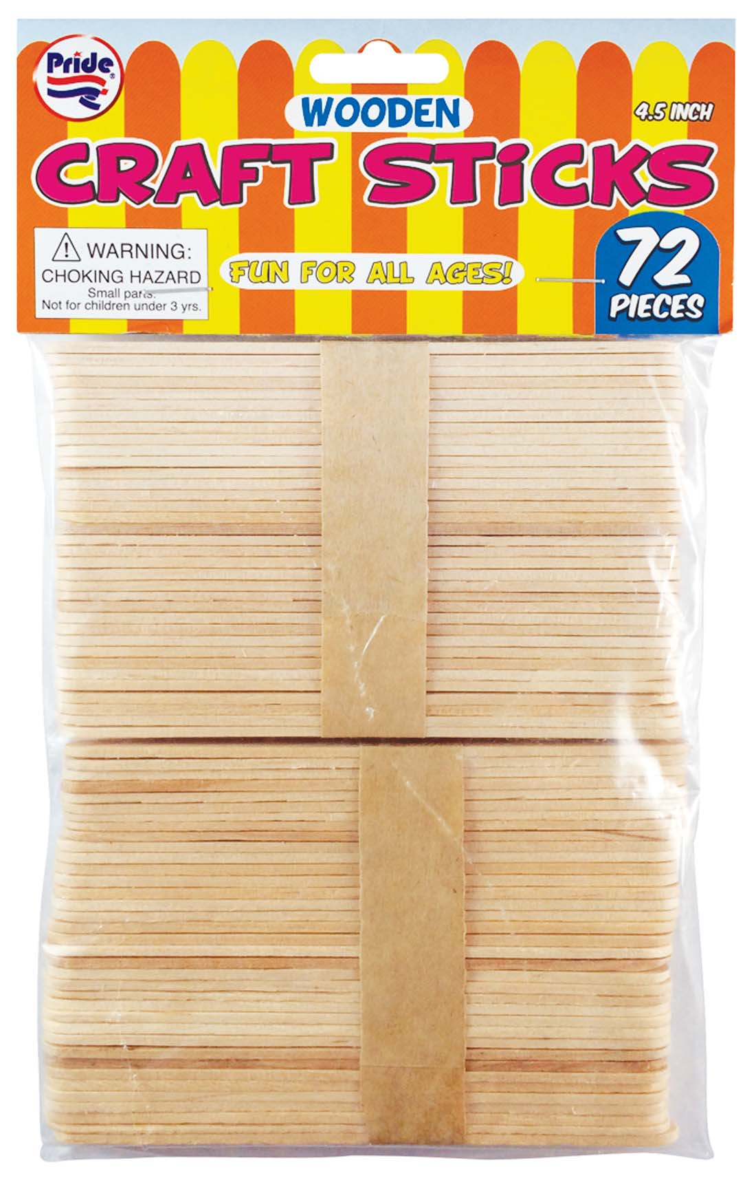 View WOODEN CRAFT STICK 72 PIECES 4.5 INCH