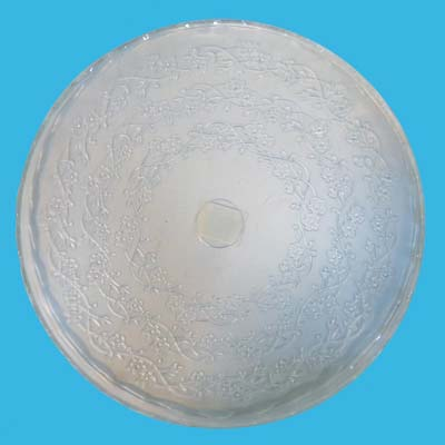 View GLASS TRAY 11.25 INCHES ROUND EMBOSSED