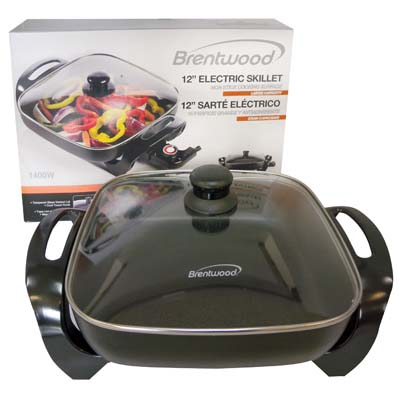 View BRENTWOOD ELECTRIC SKILLET 12 INCH UL APPROVED