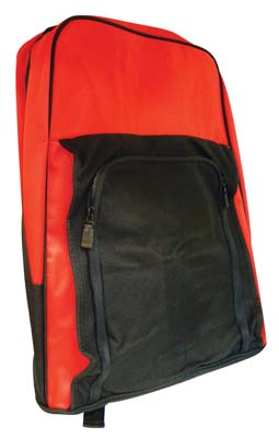 View BACKPACK 18 INCH WITH FRONT POCKET BLACK AND RED
