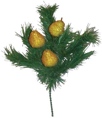 View PINE BUSH WITH BEADED FRUIT 12 INCH ASSORTED PREPRICED $2.99