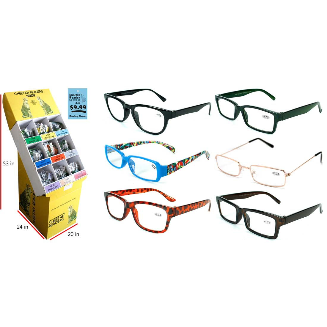 View READING GLASSES IN DISPLAY ASSORTED POWERS (+1.00-+3.50)