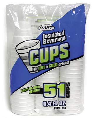 View DART INSULATED FOAM CUPS 51 CT 6.4 OZ