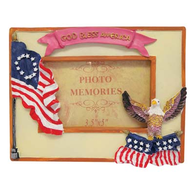 View PHOTO FRAME 3 X 5 INCH ASSORTED PATRIOTIC DESIGNS