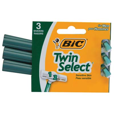 View BIC TWIN SELECT RAZOR 3 PACK GREEN