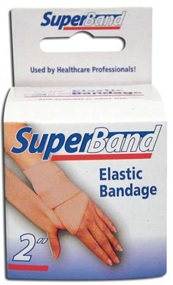 View SUPER BAND ELASTIC BANDAGE 2 INCH X 5 YDS BOXED