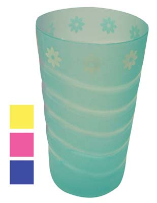 View CUPS SET 4 PACK 16 OUNCE PLASTIC DAISY DESIGN