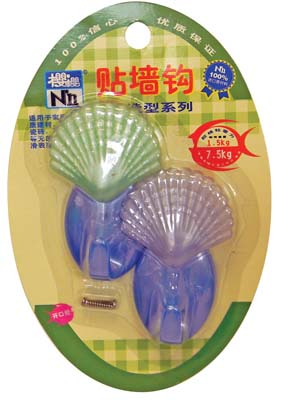 View PLASTIC HOOKS 2 PACK SEASHELL DESIGN