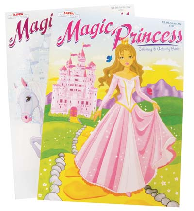 View COLORING & ACTIVITY BOOK MAGIC PRINCESS 96 PAGES ASSORTED VOLUMES ** MADE IN USA ** PREPRICED $3.95