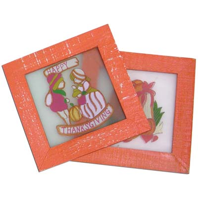 View THANKSGIVING STAINED GLASS PLAQUE 6.5x6.5 INCH PREPRICED AT $2.99