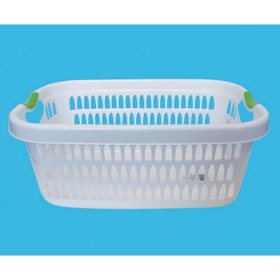 View LAUNDRY BASKET 19 X 14 X 8 INCH RECTANGULAR ASSORTED COLORED HANDLE