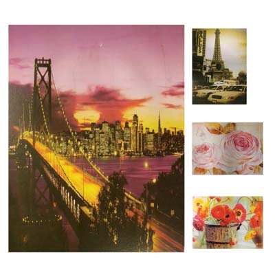 View WALL DECO PICTURE 9.5 X 7 INCH ASSORTED DESIGNS