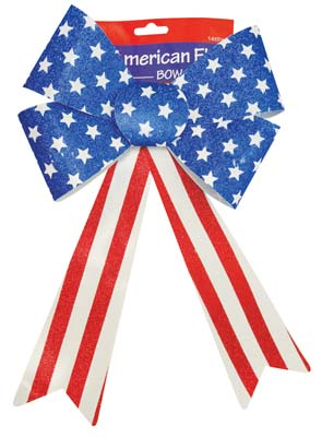 View PVC BOW 14 INCH US FLAG DESIGN