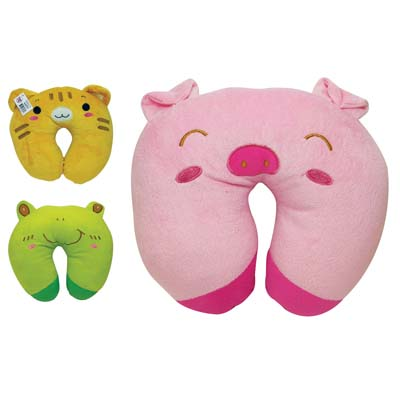 View CHILDREN'S TRAVEL PILLOW U SHAPE ASSORTED ANIMAL DESIGNS