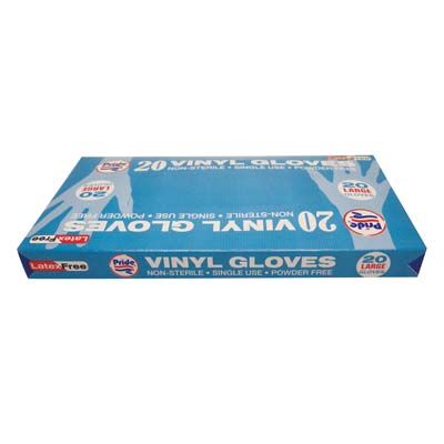 View VINYL GLOVES 20 COUNT LARGE POWDER FREE BOXED