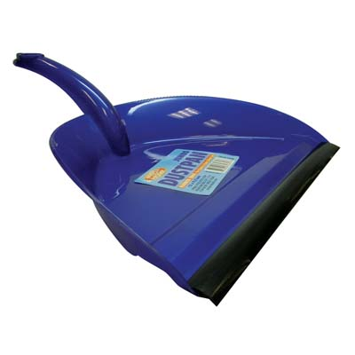View JUMBO DUSTPAN 12 X 9.5 INCH WITH RUBBER EDGE ASSORTED COLORS