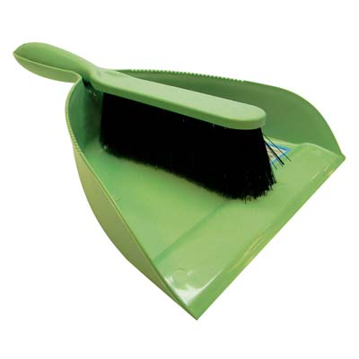 View DUSTPAN AND BRUSH SET 12 X 8 INCH ASSORTED COLORS