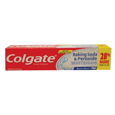View COLGATE TOOTHPASTE 8.2 OZ BAKING SODA & PEROXIDE BRISK MINT PASTE