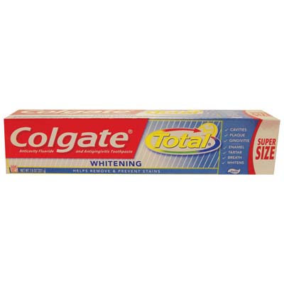 View COLGATE TOTAL TOOTHPASTE 7.8 OZ WHITENING PASTE **MADE IN USA**
