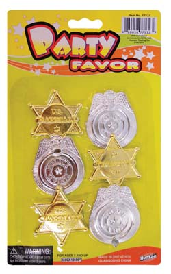 View BADGE PARTY FAVORS 6 PC