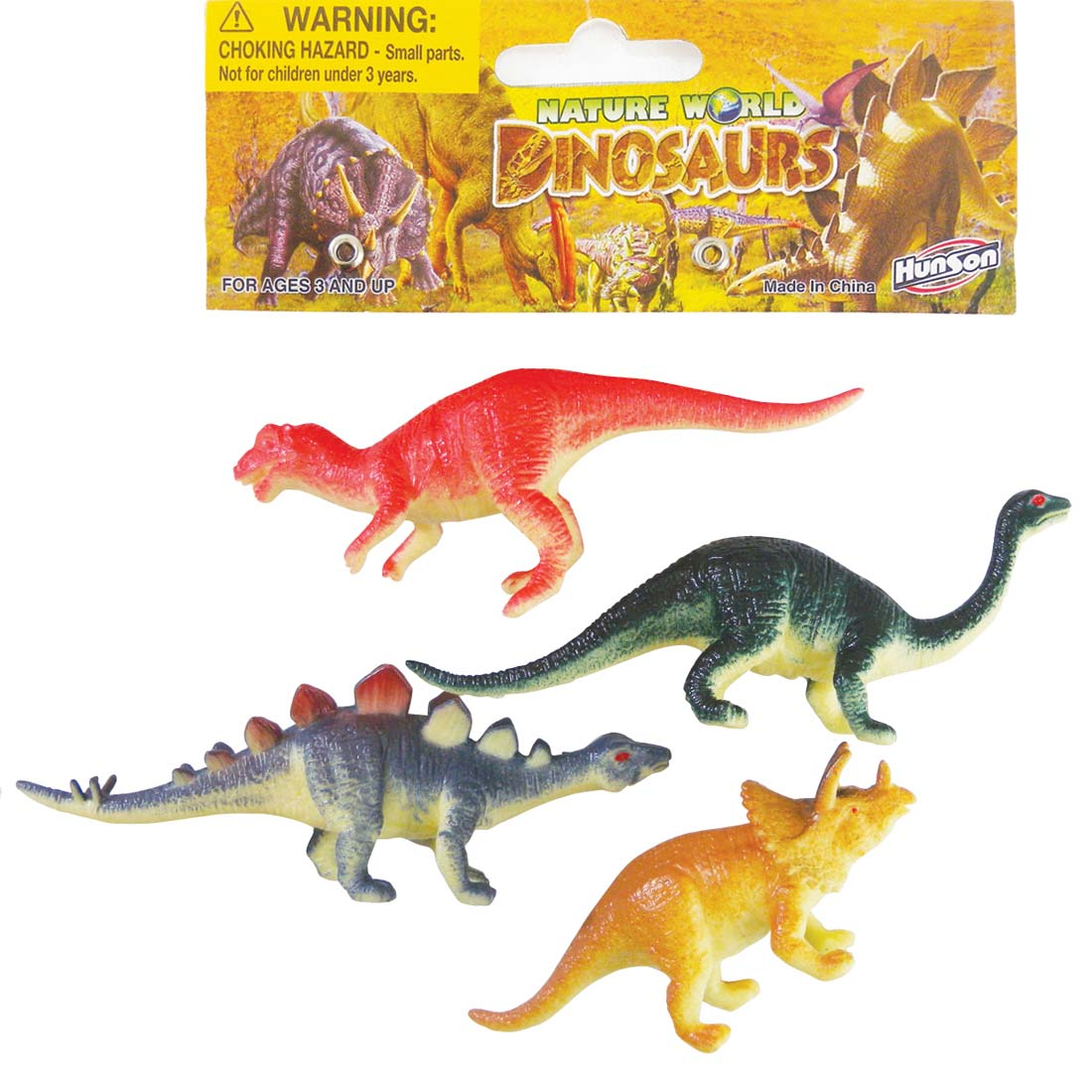 View DINOSAURS PLASTIC 4 INCHES 4 PACK ASSORTED