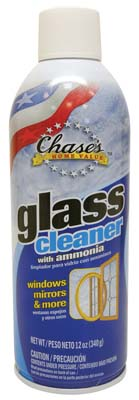 "View CHASE'S GLASS CLEANER 12 OZ AEROSOL WITH AMMONIA  ""MADE IN USA"""