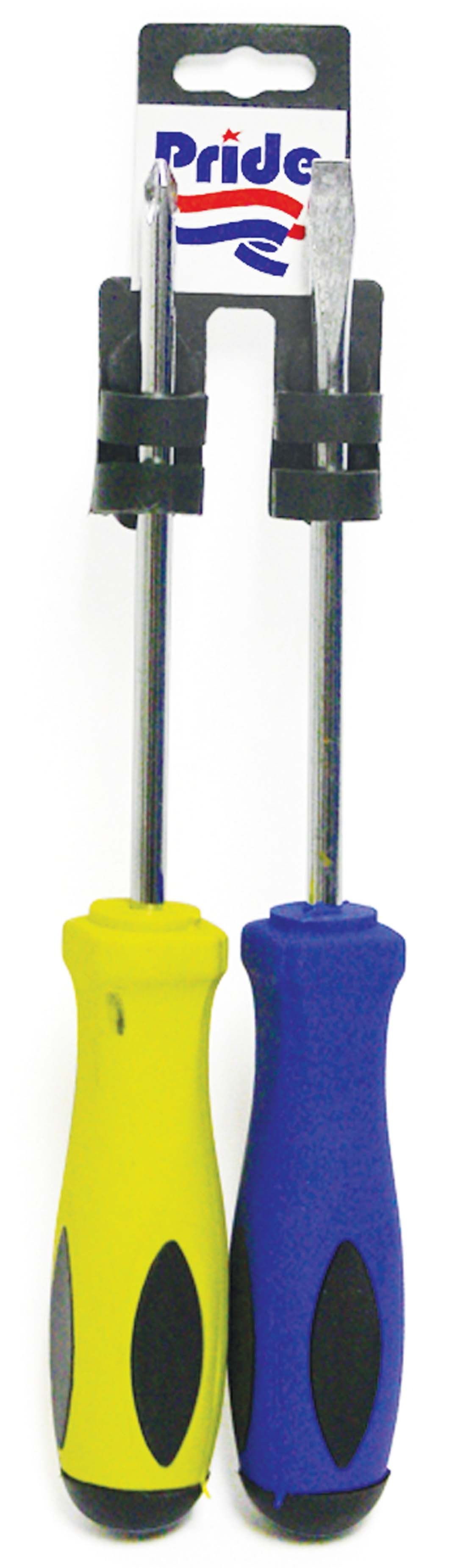 View SCREWDRIVER SET 2 PIECE 9 INCH - FLAT AND PHILLIPS HEAD