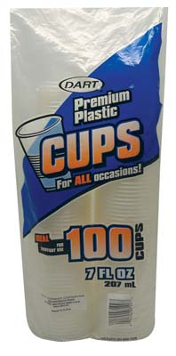 View DART PLASTIC CUP 100 COUNT 7 OZ **MADE IN USA**