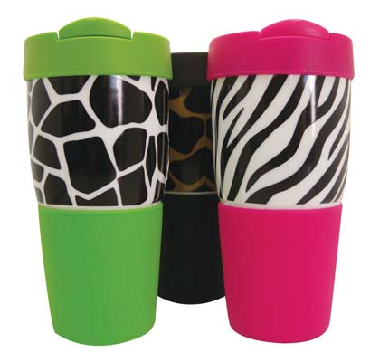 View GIBSON TRAVEL MUG 16 OZ CERAMIC WITH SILICONE SLEEVE