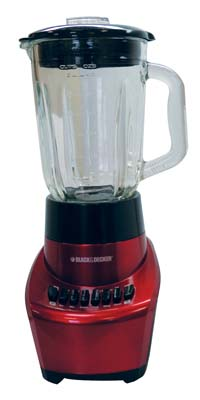 "View BLACK & DECKER BLENDER 6 CUP 12 SPEED 550 WATT STAINLESS STEEL FUSION BLADE RED ""FACTORY SERVICED"" 2 YEAR WARRANTY"