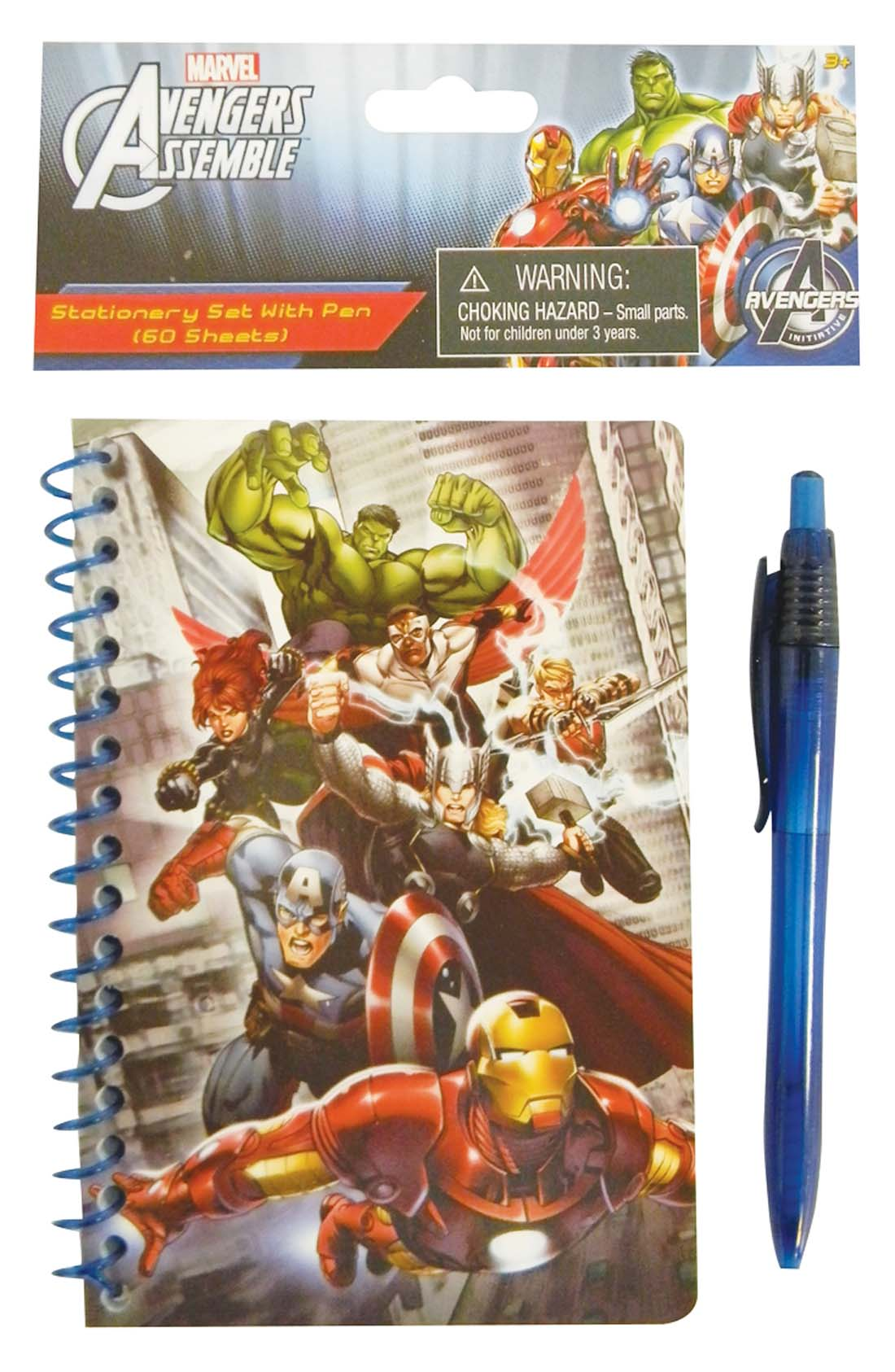 View AVENGERS NOTEBOOK + PEN SET 60 PAGE 4 X 6 INCH MINI