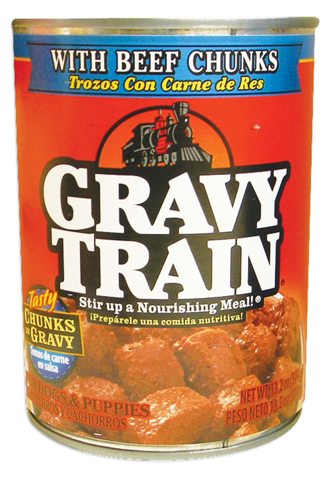 View GRAVY TRAIN DOG FOOD 13.2 OZ BEEF CHUNKS