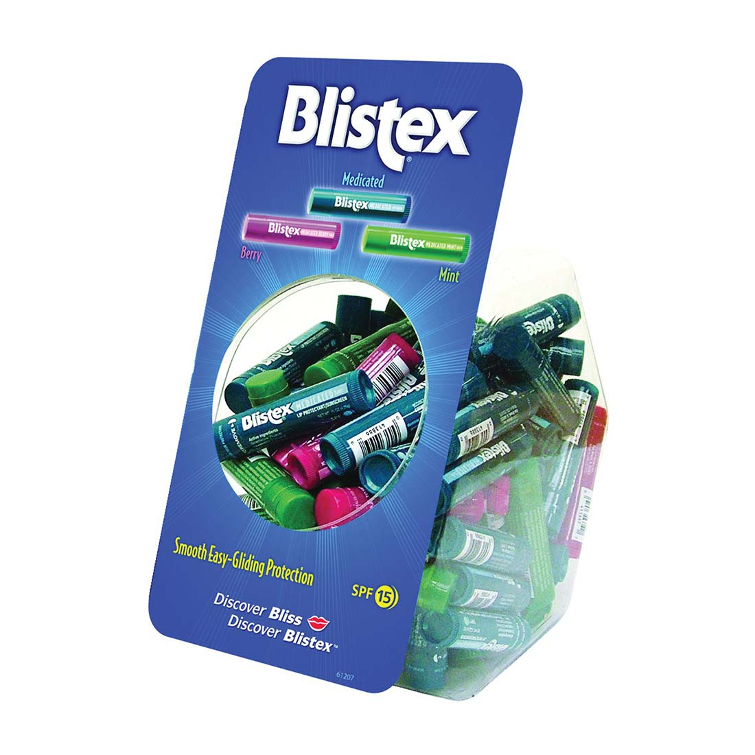 View BLISTEX MEDICATED LIP BALM .15 OZ IN FISH BOWL ASSORTED BERRY/ MEDICATED & MINT