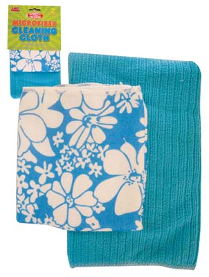 View CLEANING CLOTH 2 PACK 12 X 16 & 16 X 19 INCH MICROFIBER