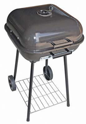 View BBQ CHARCOAL KETTLE 18 INCH SQUARE WITH WHEELS