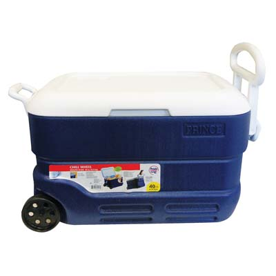 View INSULATED COOLER 9 GALLON ON WHEELS